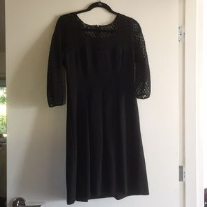 Nine West winter black cocktail dress illusion 6